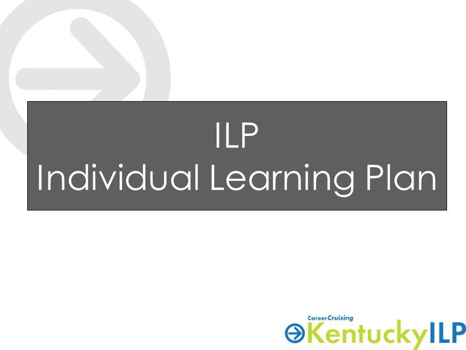 ILP Individual Learning Plan