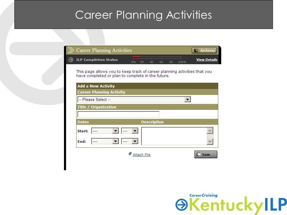 Career Planning Activities