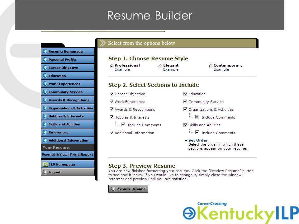 65 resume builder