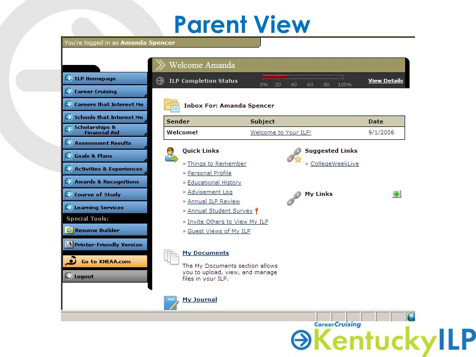 Parent View-Assessment Results