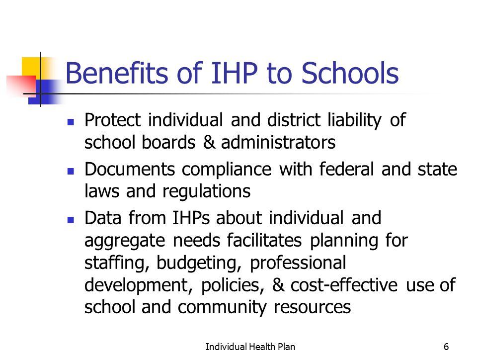 Individual Health Plan7 IHP needs to address: Collaboration!.