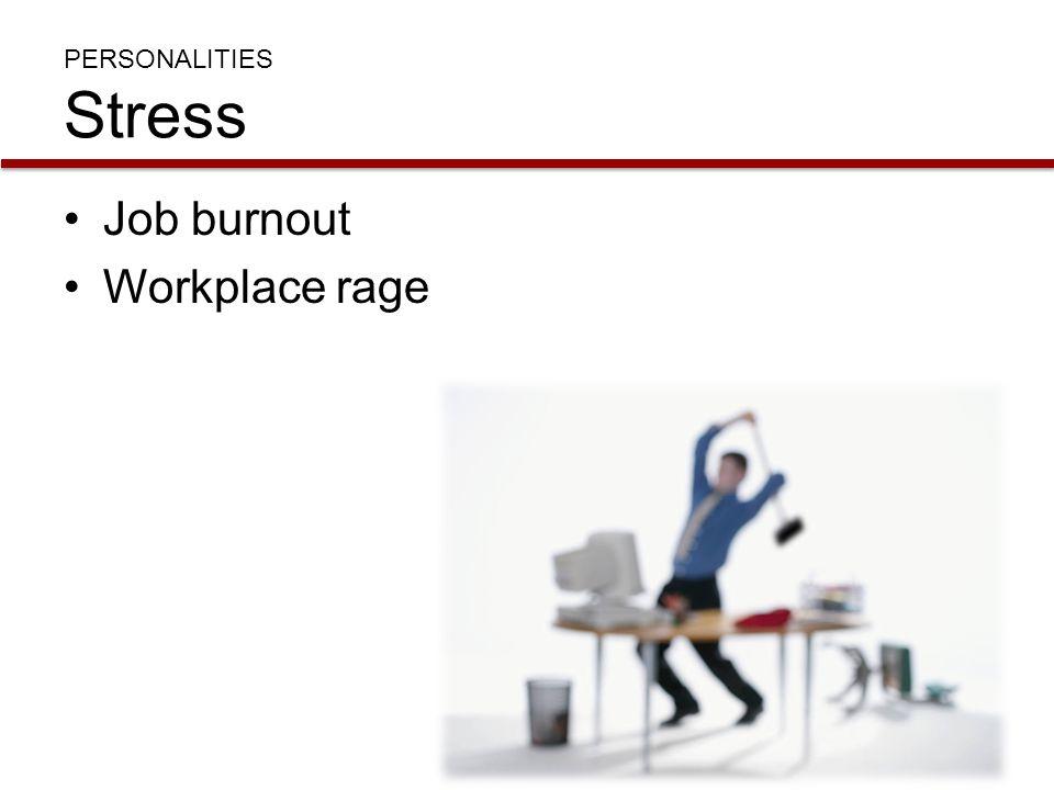 PERSONALITIES Stress Job burnout Workplace rage
