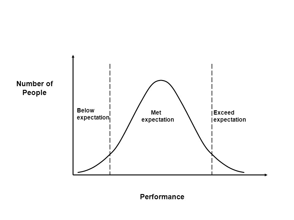 Number of People Performance Below expectation Exceed expectation Met expectation