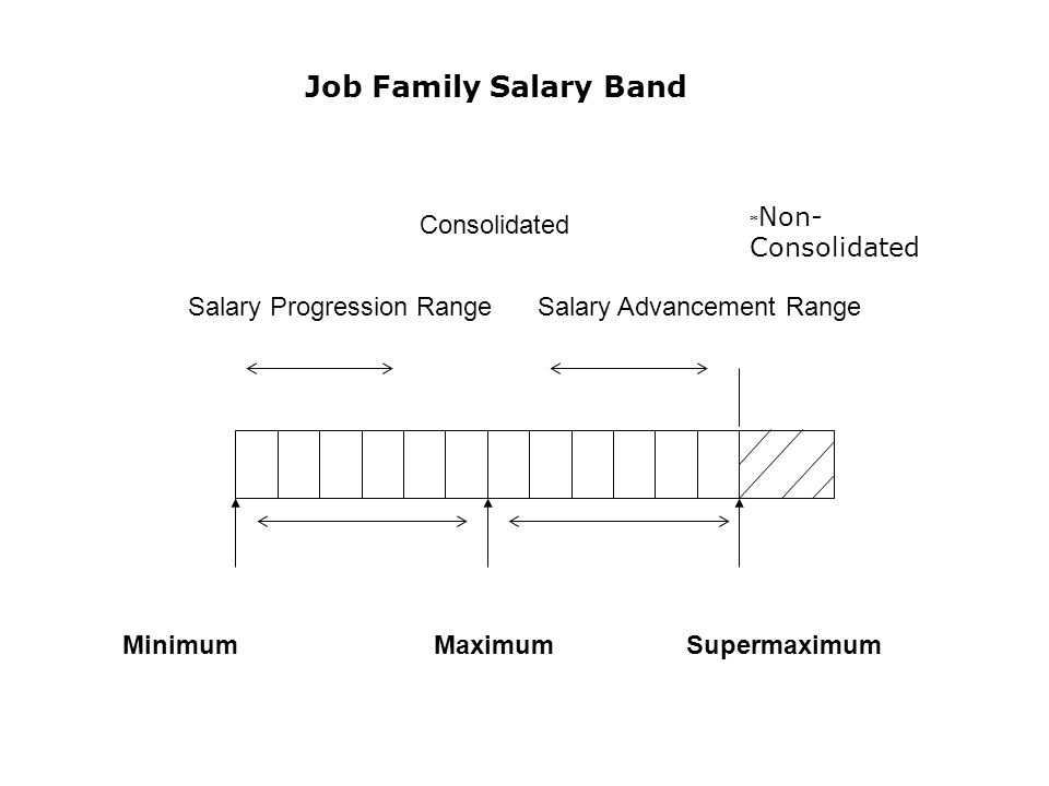 * Non- Consolidated Job Family Salary Band Consolidated Minimum Maximum Supermaximum Salary Progression Range Salary Advancement Range
