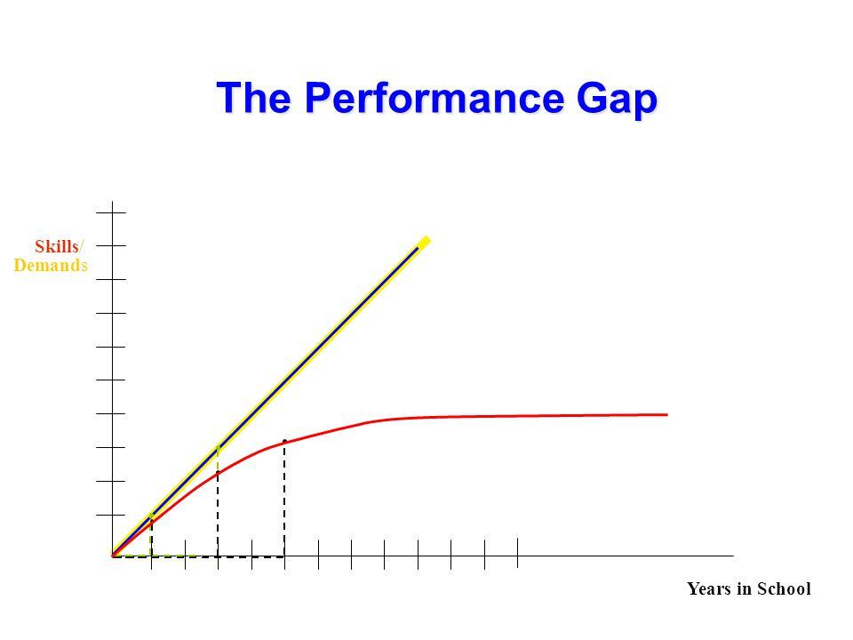 The Performance Gap Years in School Skills Demands /