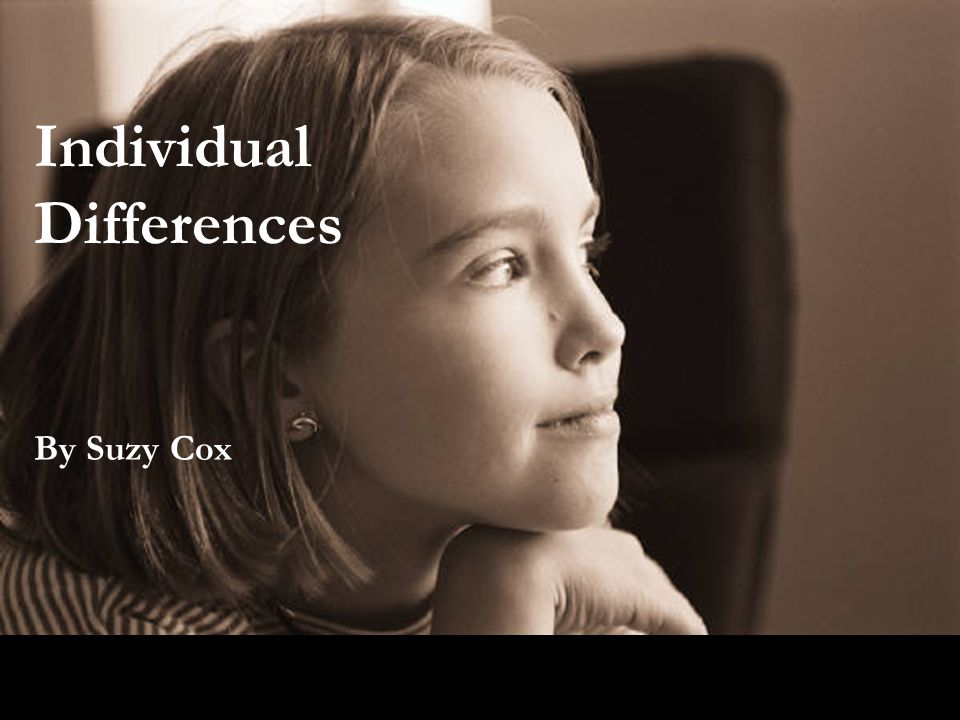 Individual Differences By Suzy Cox
