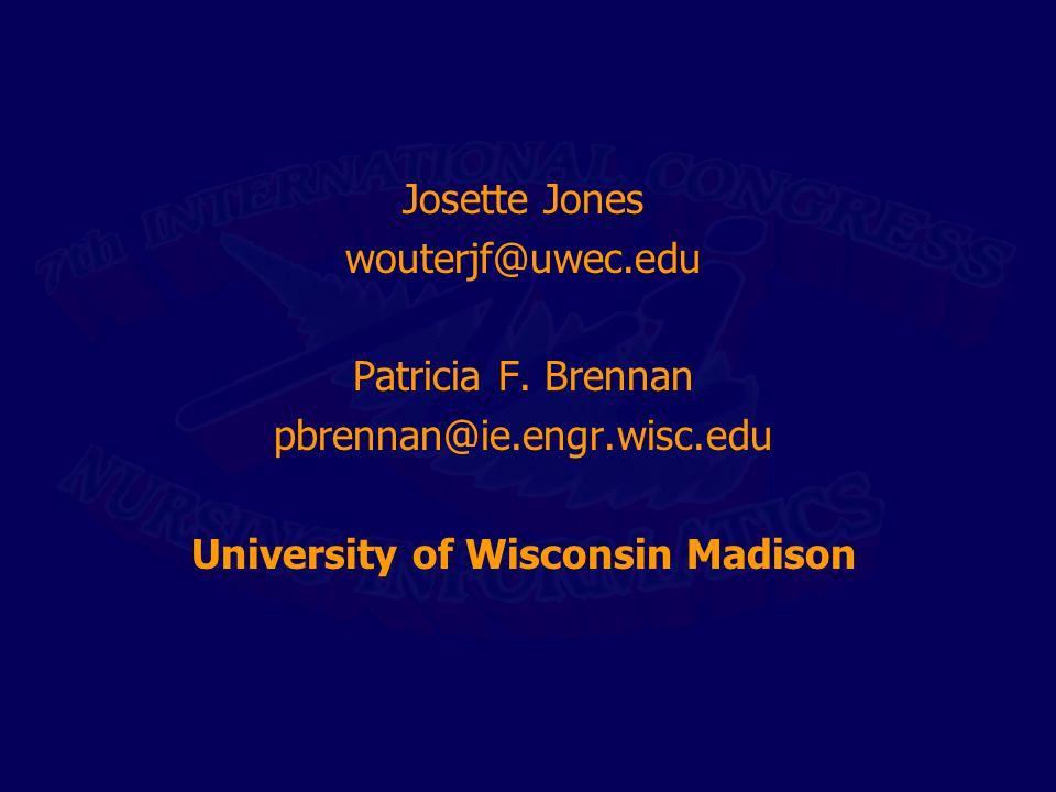 Josette Jones wouterjf@uwec.edu Patricia F.