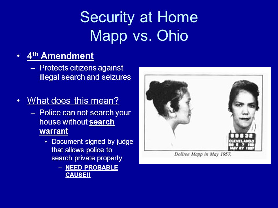Security at Home Mapp vs.