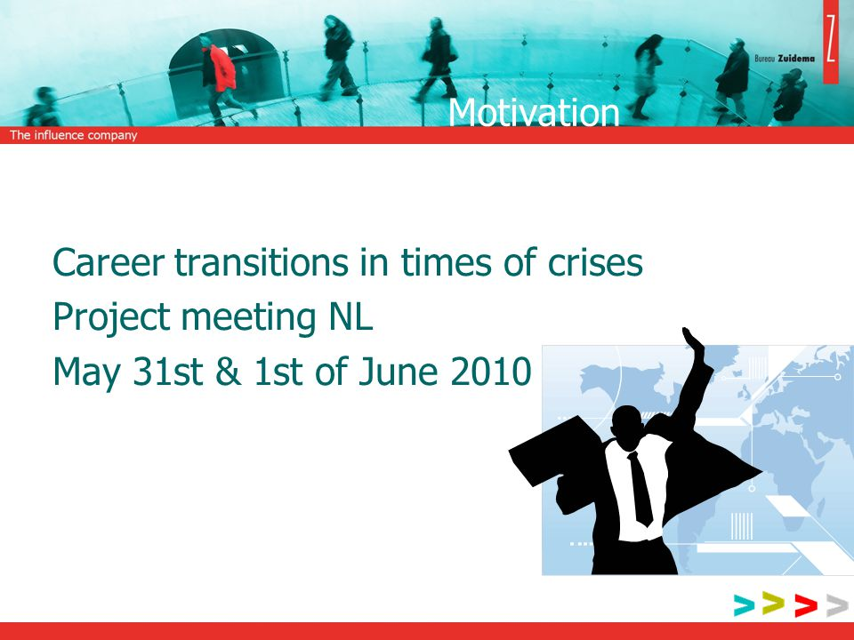 Motivation Career transitions in times of crises Project meeting NL May 31st & 1st of June 2010