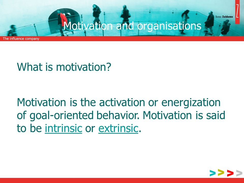 Motivation and organisations What is motivation.