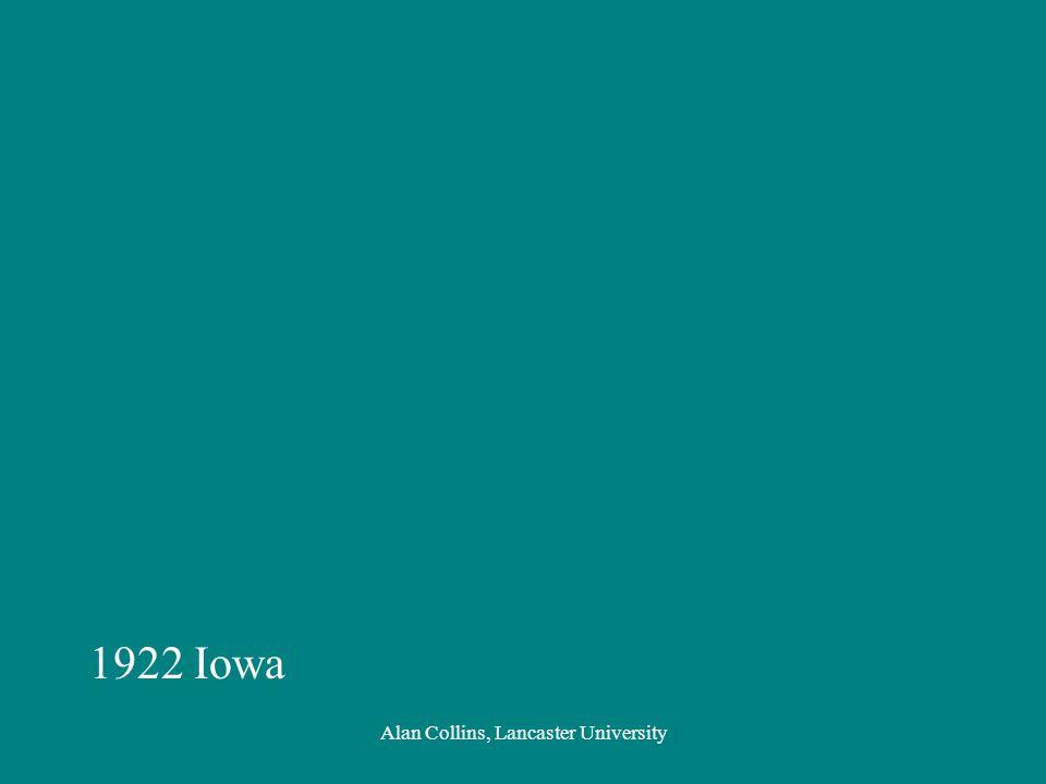 1922 Iowa Alan Collins, Lancaster University
