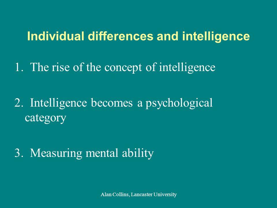 Previously: medicine, idiocy & 'asylum' Alan Collins, Lancaster University