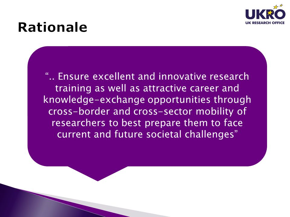 """"""".. Ensure excellent and innovative research training as well as attractive career and knowledge-exchange opportunities through cross-border and cross"""