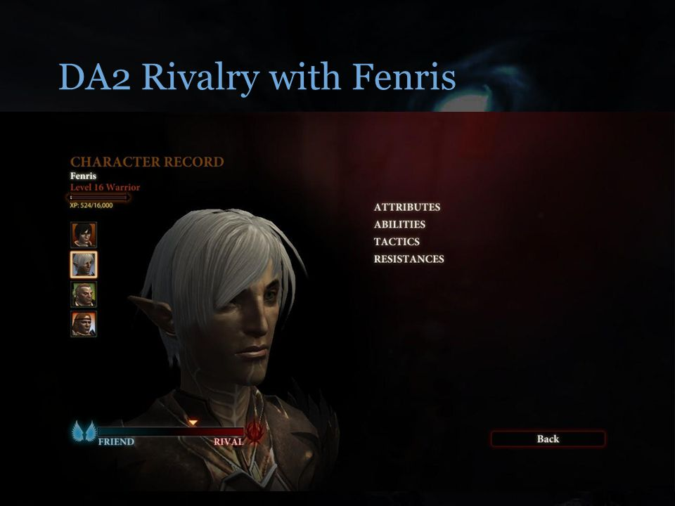 DA2 Rivalry with Fenris