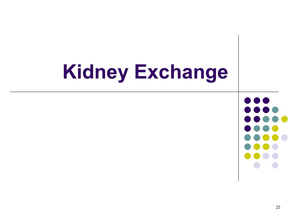 Kidney Exchange 25