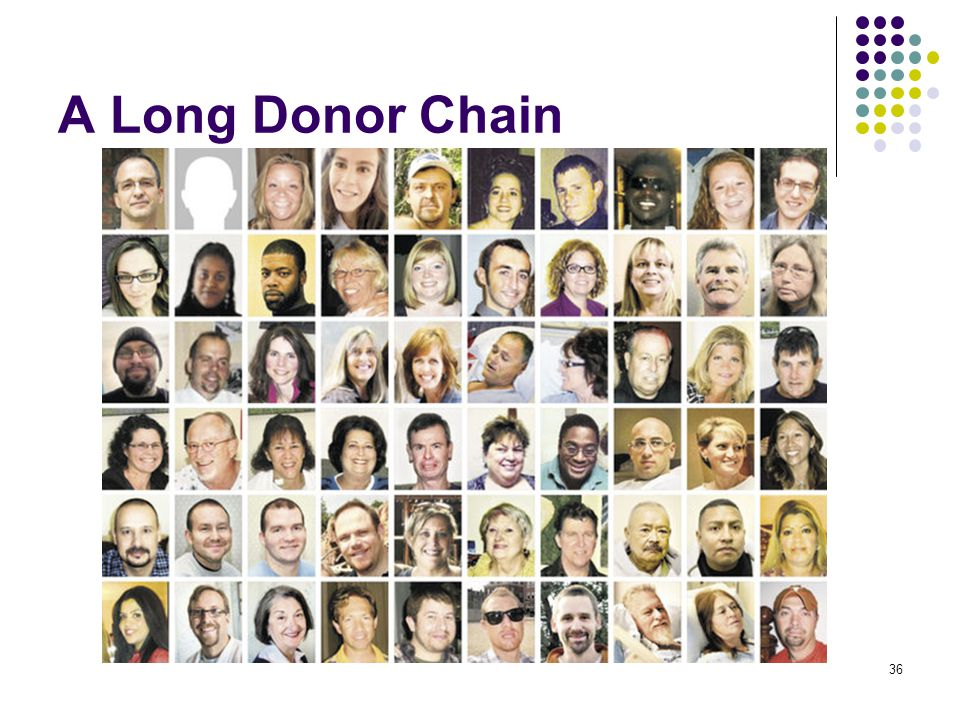 A Long Donor Chain 36