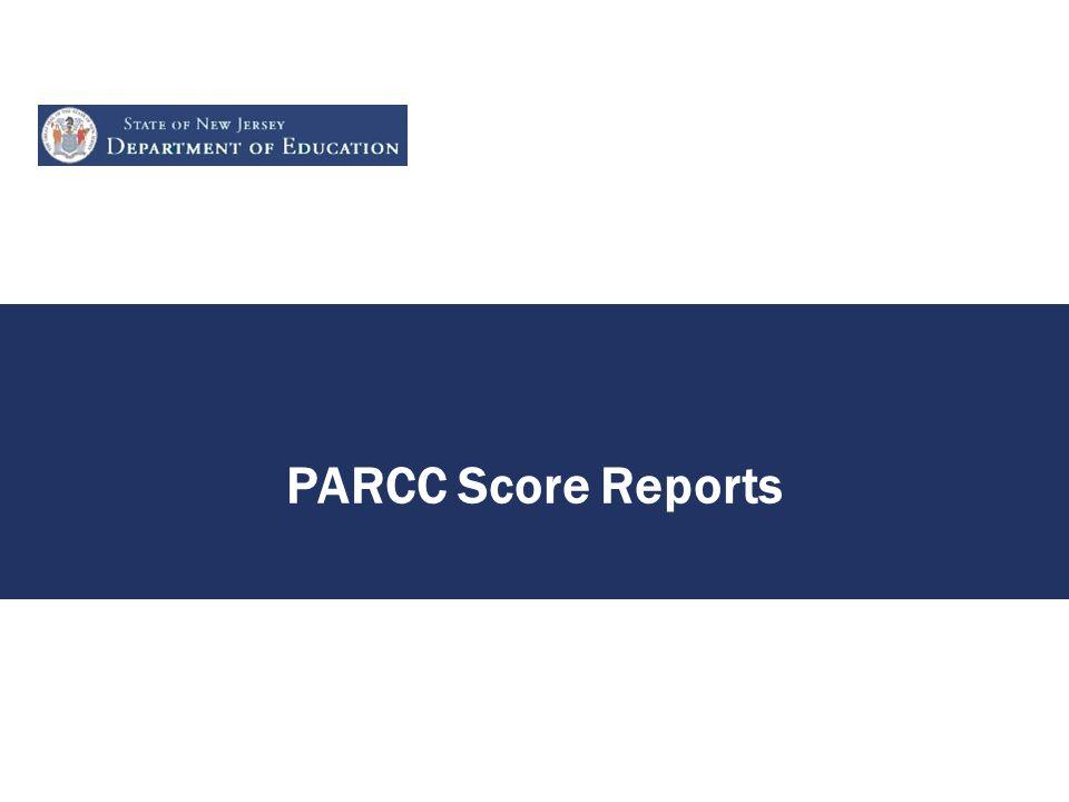 PARCC Score Reports