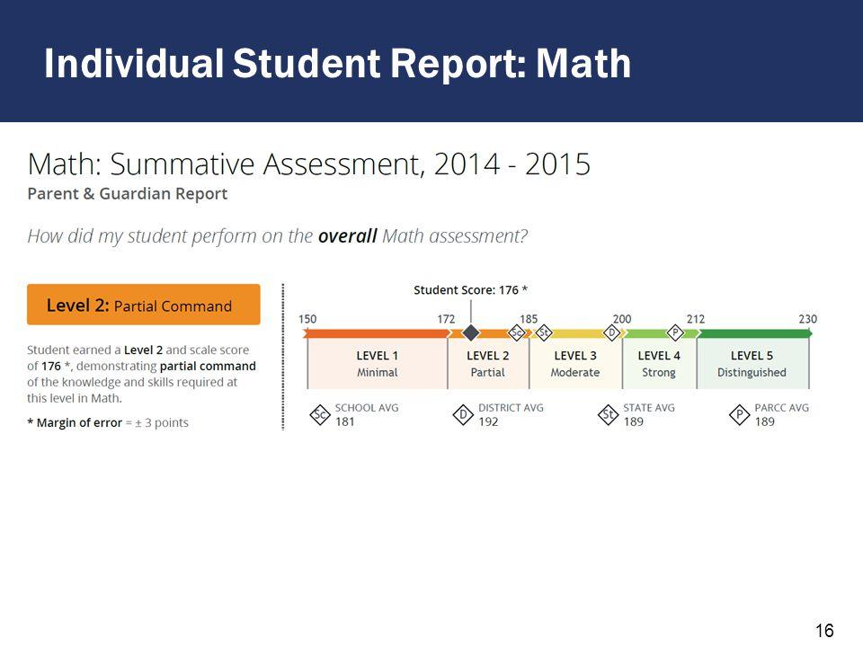 Individual Student Report: Math 17