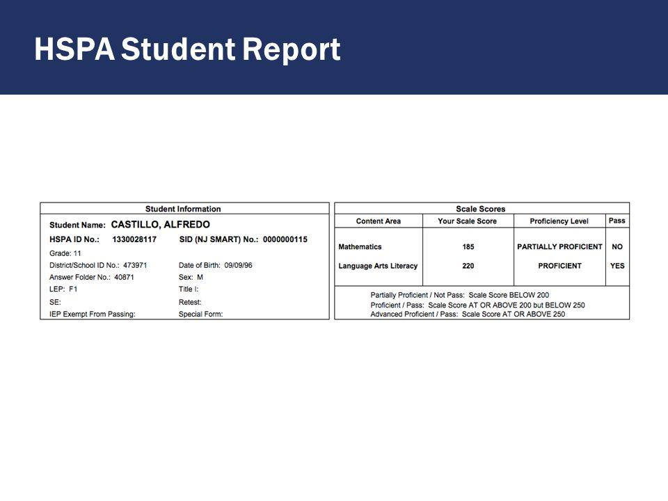 HSPA Student Report