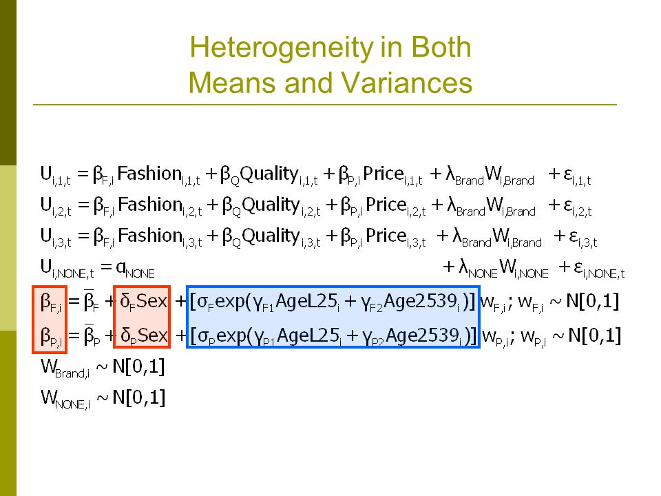 Heterogeneity in Both Means and Variances