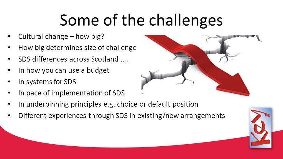 Some of the challenges Cultural change – how big.