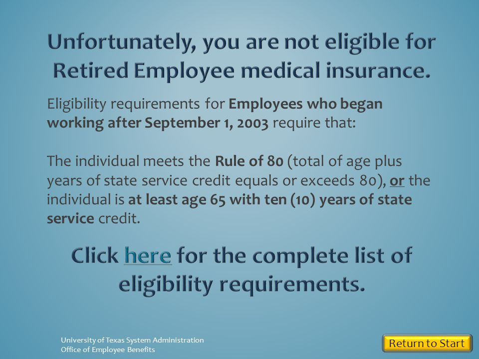 Are you at least 65 years old with 10 years of benefits-eligible state service.