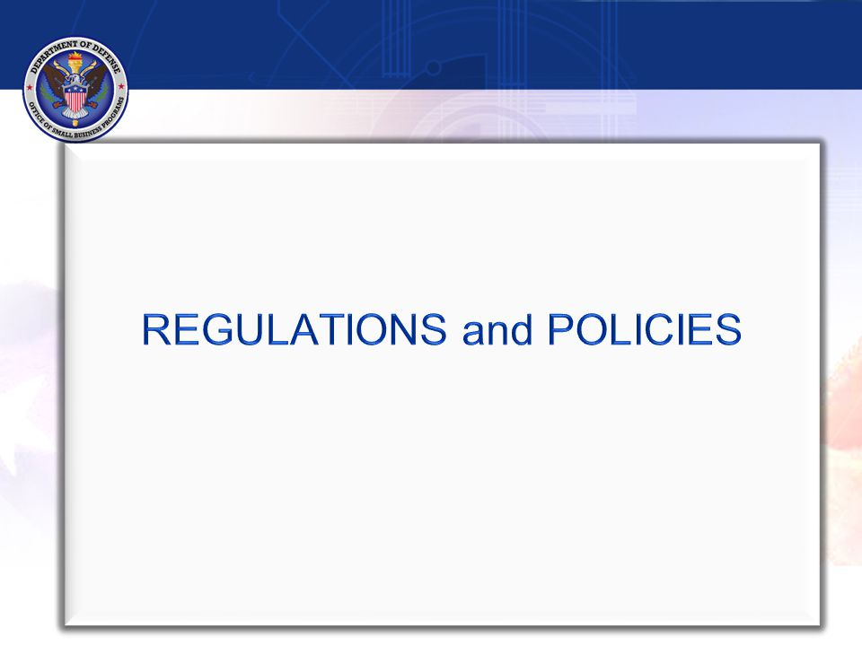 Regulations   FAR 19.7, Subcontracting Program   DFARS 219.7, Subcontracting Program (Feb 2013)   FAR 52.219-9, Subcontracting Plan (Jan 2011)   FAR 52.219-9, Alternate III (Jul 2010) For contracts that, pursuant to other authority, are not entered in FPDS, contractors submit SF 294 in lieu of Individual Subcontract Report (ISR) in Electronic Subcontracting Reporting System (eSRS) 4