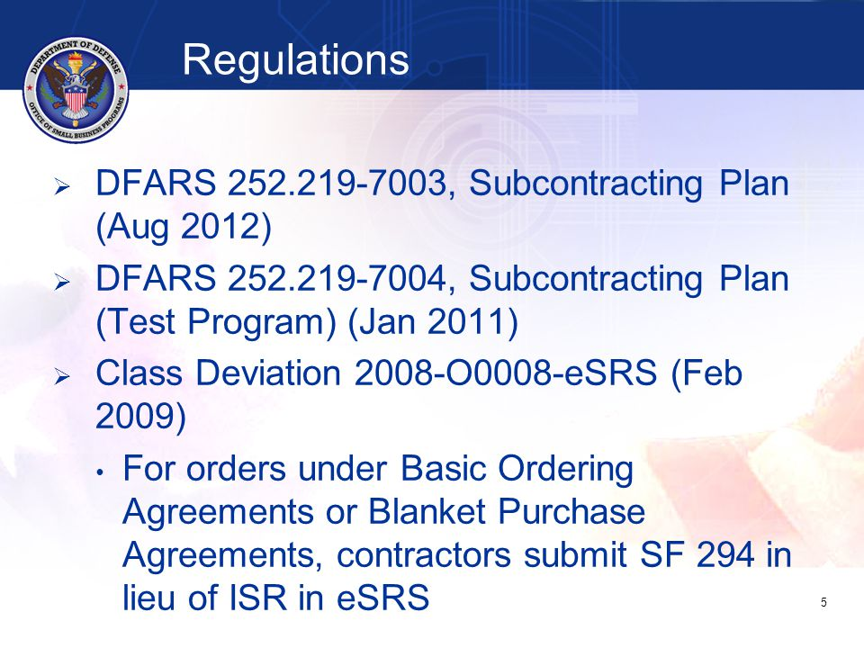   Prime contractor's report is reviewed by awarding agency office, even when contract administration is delegated to DCMA or another organization   Subcontractor's report is reviewed by upper- tier contractor that awarded the subcontract 26 Individual Subcontract Report (ISR) (SF 294, when required)