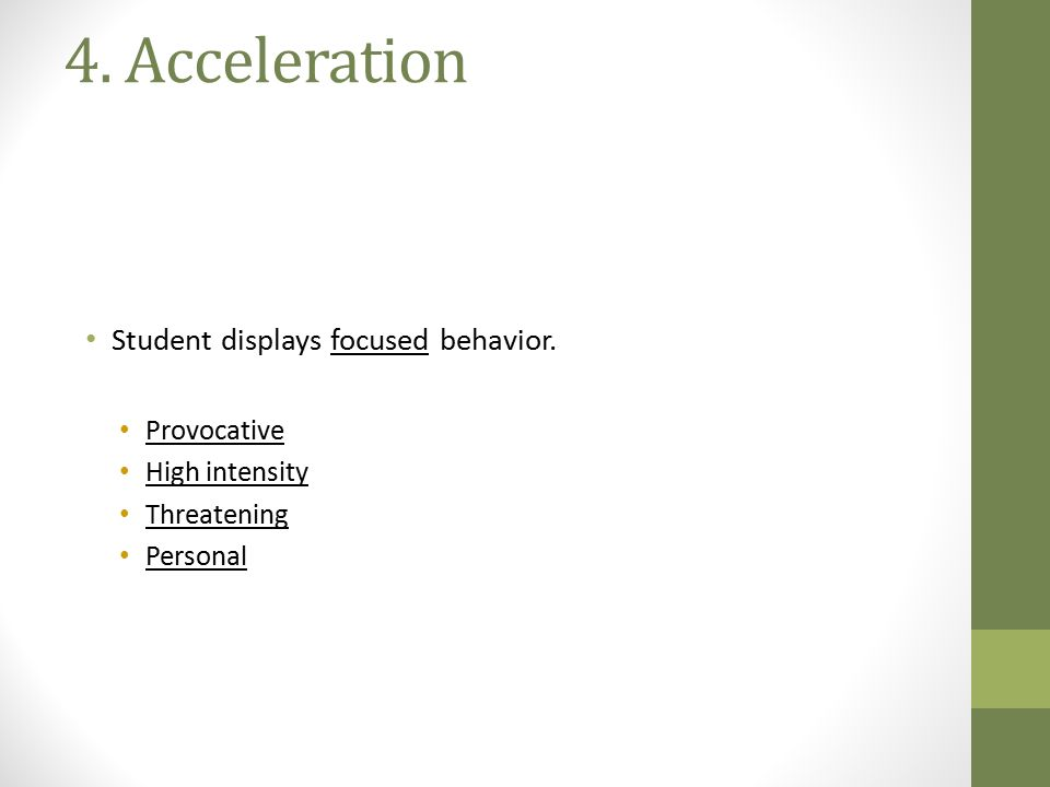The MODEL High Low ACCELERATION