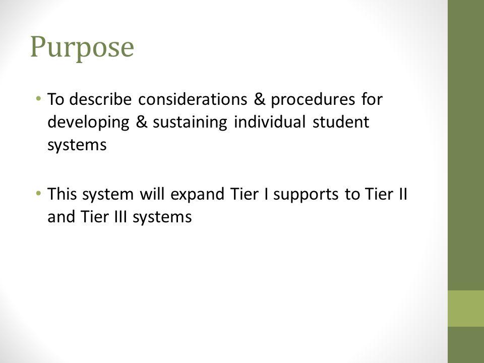 Purpose Enhance our understanding of & ways of responding to escalating behavior sequences.