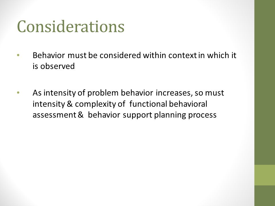 Guidelines (Sugai & Tindal, 1993) Develop measurable and operational definitions.