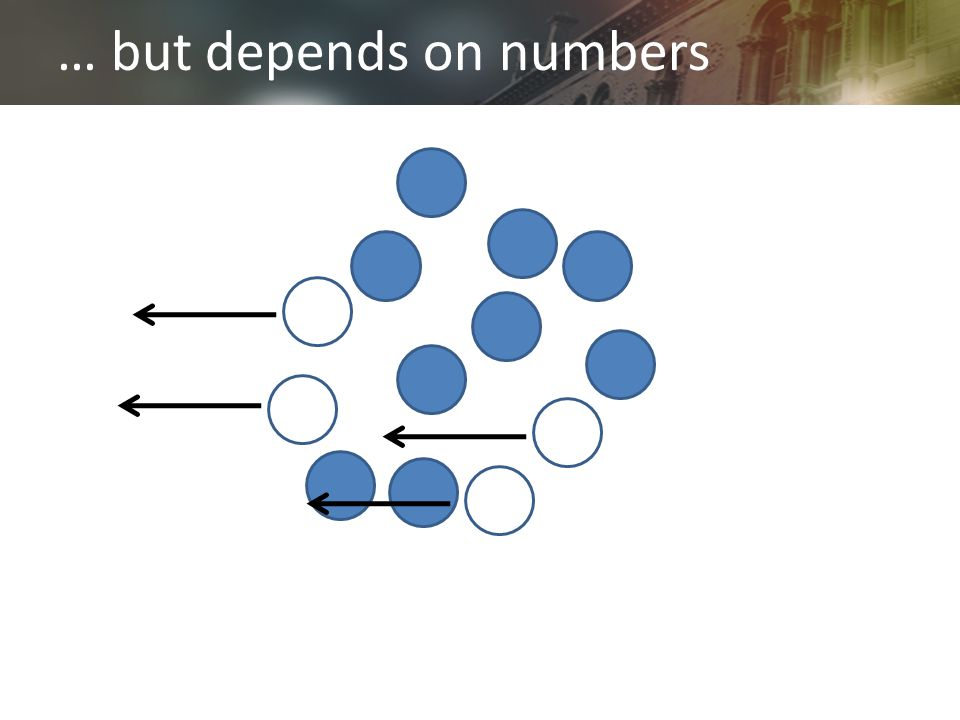 … but depends on numbers