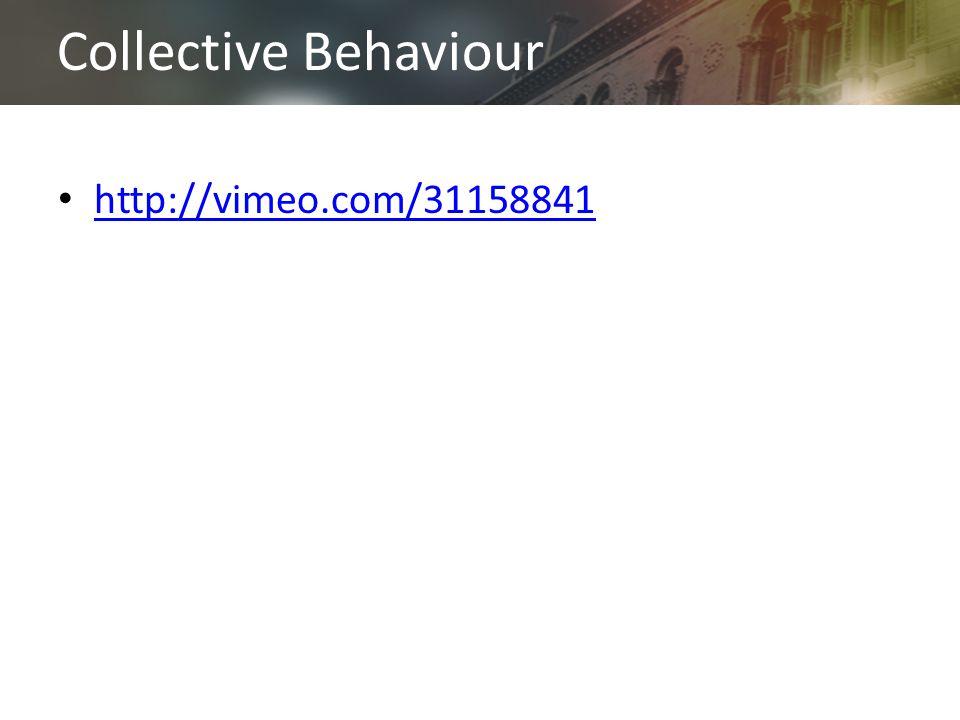 Collective Behaviour http://vimeo.com/31158841
