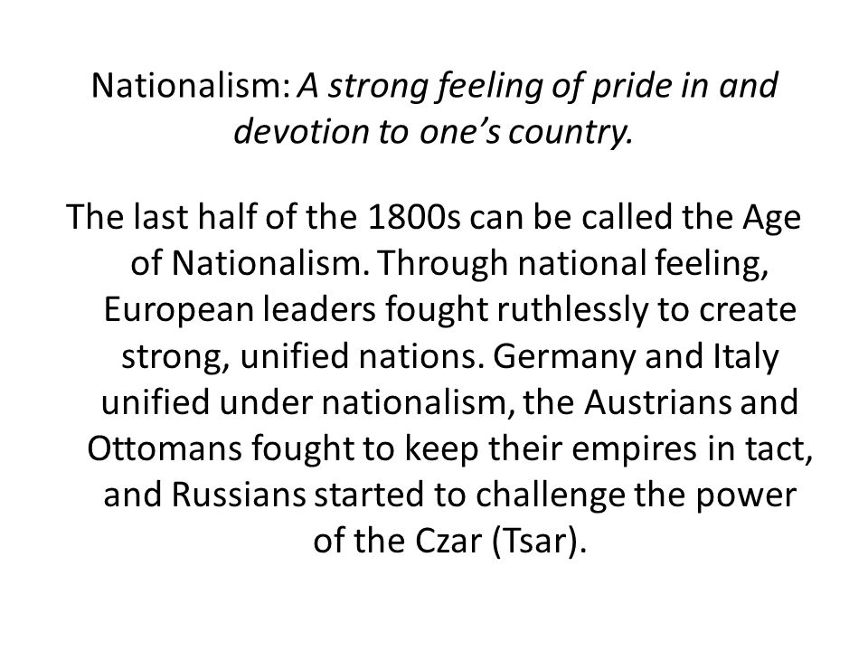 Nationalism Shakes Aging Empires The Breakup of the Austrian Empire Austria includes people from many ethnic groups 1866 defeat in Austro- Prussian War (Seven Weeks War) and Hungarian nationalism forces emperor to split the empire into Austria and Hungary still ruled by emperor Flag of Austria-Hungary representing two kingdoms, but ruled by one emperor.