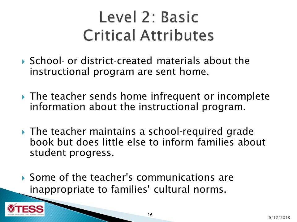  School- or district-created materials about the instructional program are sent home.
