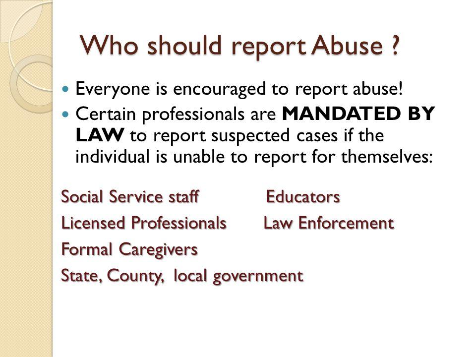 What Constitutes Abuse .