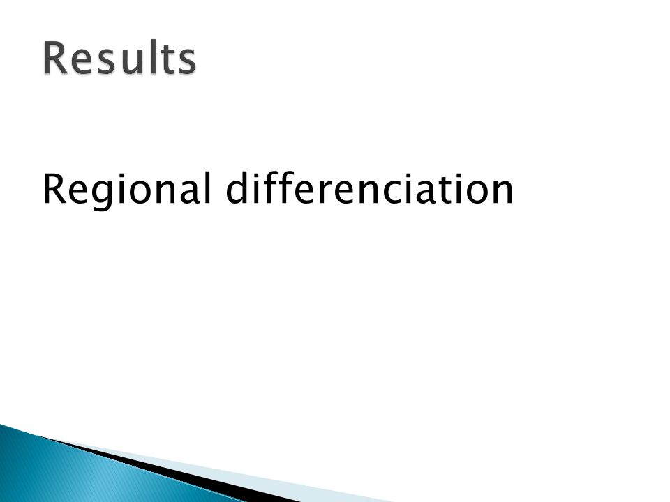 Regional differenciation