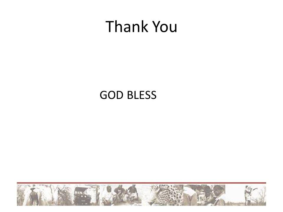 Thank You GOD BLESS