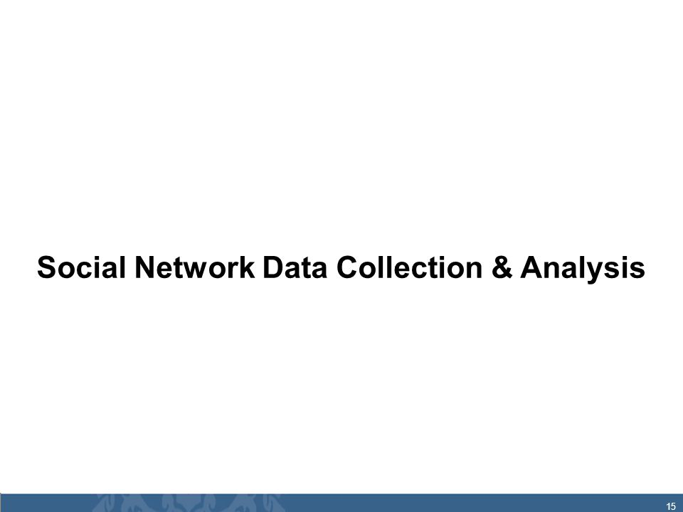 15 Social Network Data Collection & Analysis