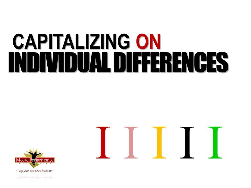 CAPITALIZING ON INDIVIDUAL DIFFERENCES I I I I I