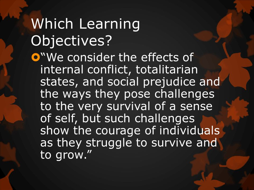 Which Learning Objectives.