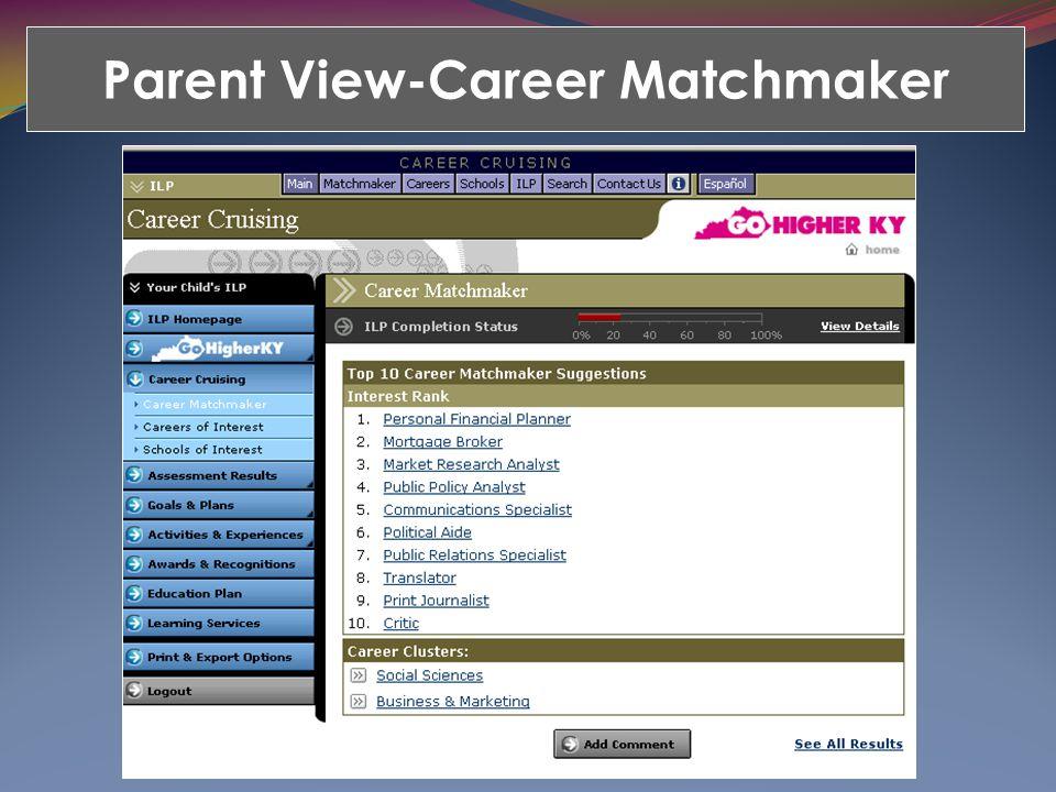 Parent View-Career Matchmaker