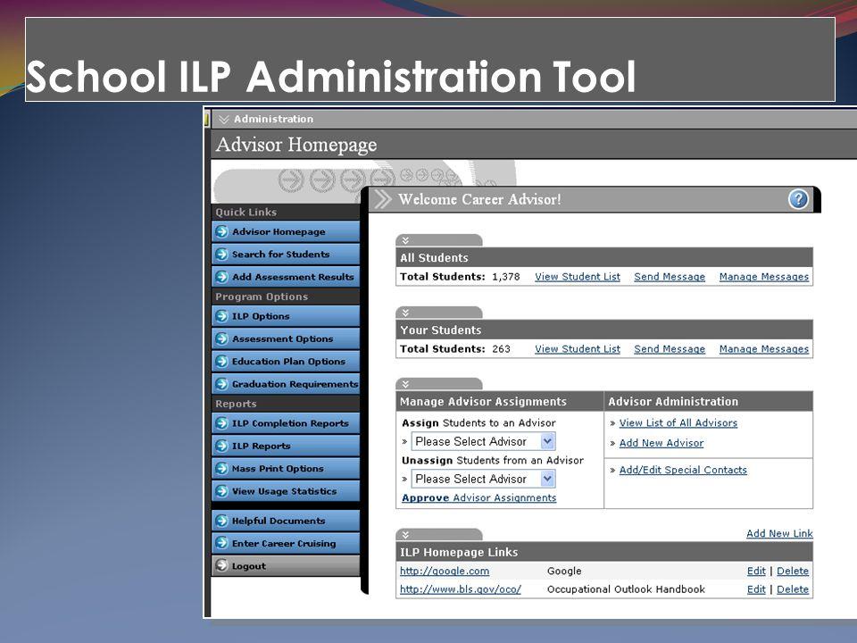 School ILP Administration Tool