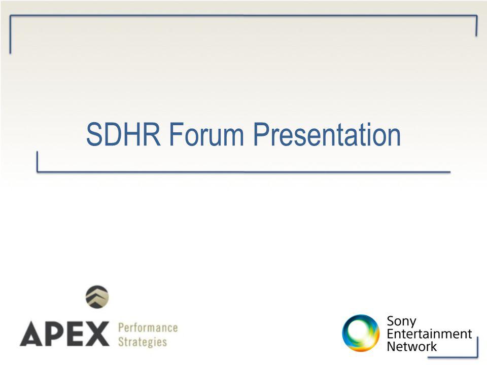 SDHR Forum Presentation