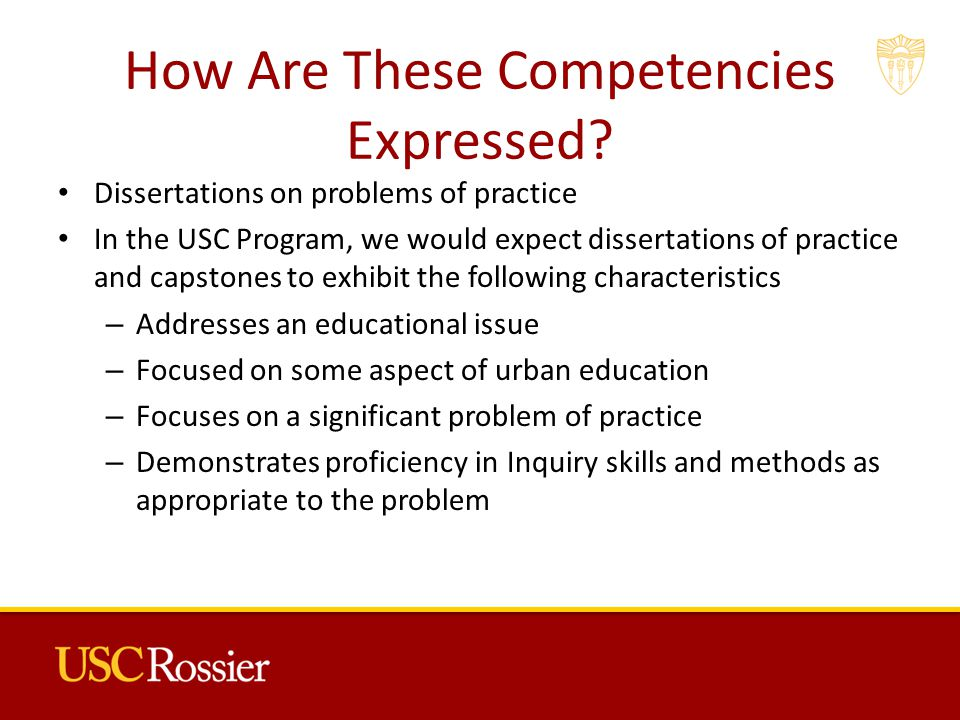 How Are These Competencies Expressed.