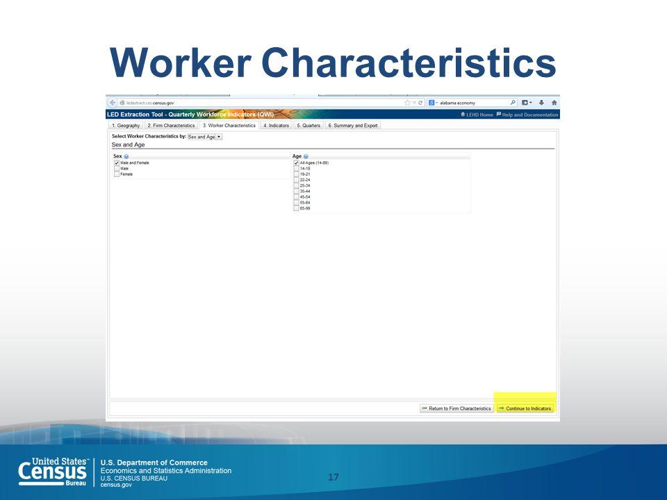Worker Characteristics 17
