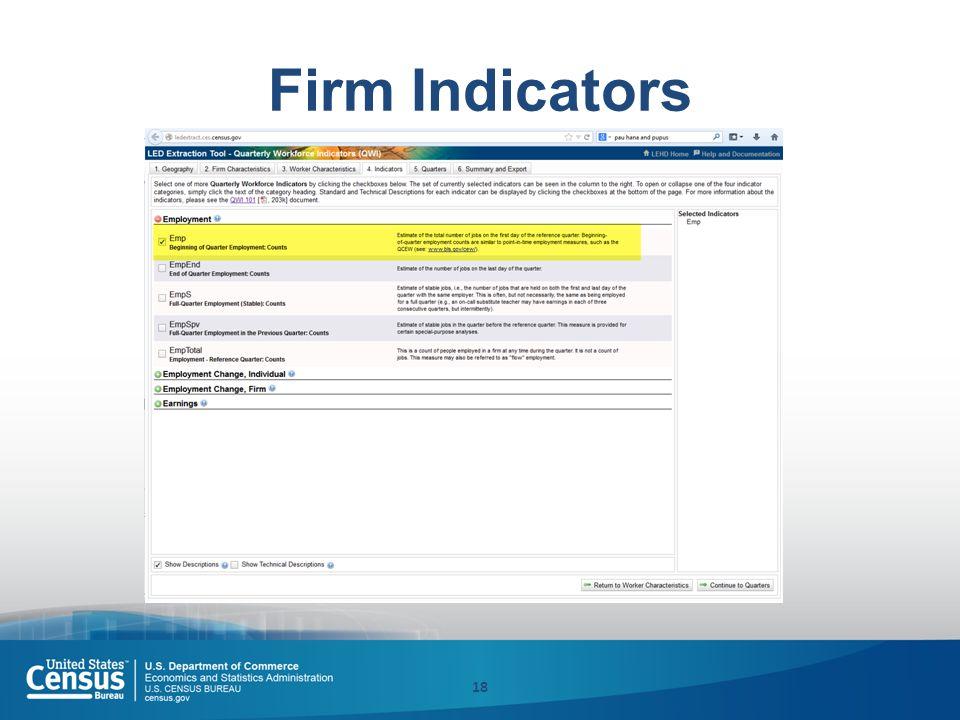 Firm Indicators 18