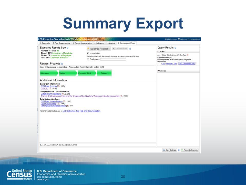 Summary Export 20