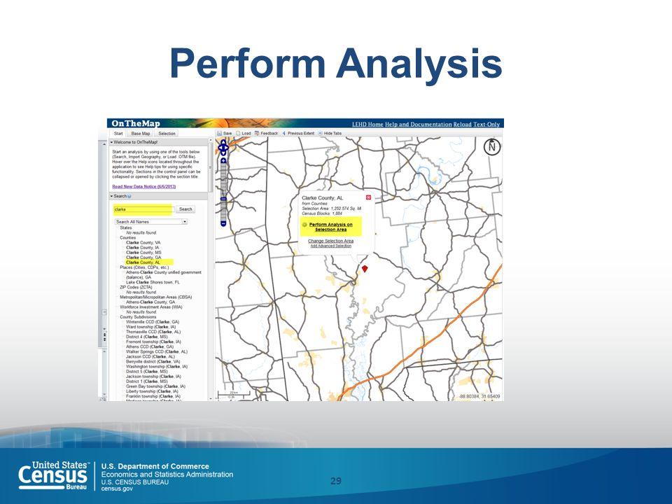 Perform Analysis 29