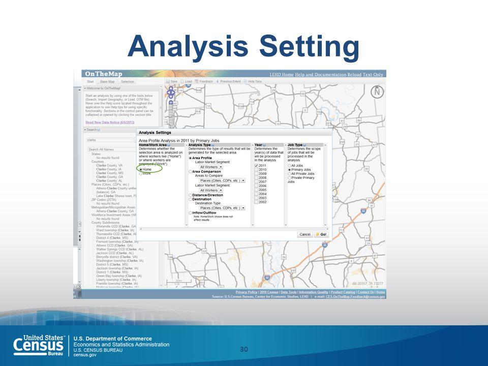Analysis Setting 30